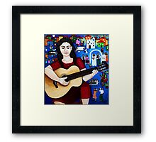 "Violeta Parra  and the song ""Black wedding"" Framed Print"
