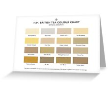 H.M. British Tea Colour Chart Greeting Card