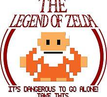 Zelda - It's Dangerous To Go Alone by pribellafronte