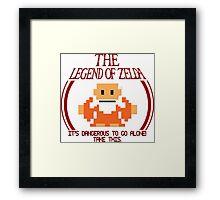 Zelda - It's Dangerous To Go Alone Framed Print