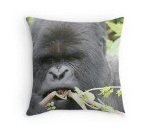 Gorilla Snack Throw Pillow