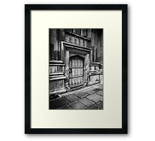 Bodleian Library Black and White Door Framed Print