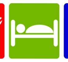 EAT SLEEP  PEE HOTEL SIGN Sticker