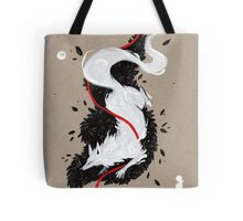 WHITE FOX RIBBONS  Tote Bag