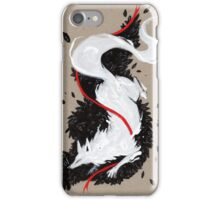 WHITE FOX RIBBONS  iPhone Case/Skin