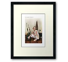 ' ast er svaldgafur '  Framed Print