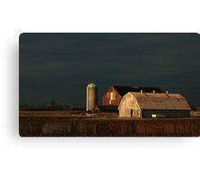 Light Meets The Dark Over Kilcurry Farm Canvas Print