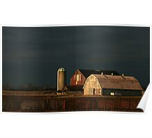 Light Meets The Dark Over Kilcurry Farm Poster