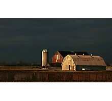 Light Meets The Dark Over Kilcurry Farm Photographic Print