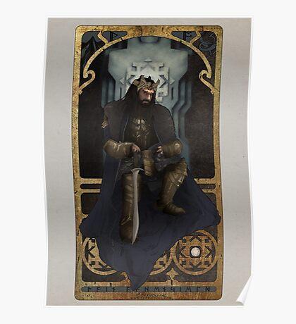 Art Nouveau Thorin Oakenshield Poster