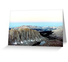 View from Trail Crest, CA Greeting Card