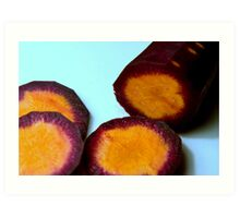 Purple carrots Art Print