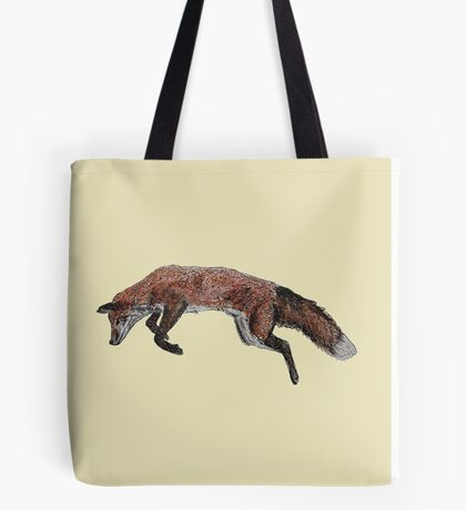 Leaping Fox  Tote Bag