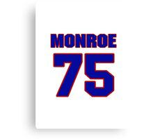 National football player Eugene Monroe jersey 75 Canvas Print