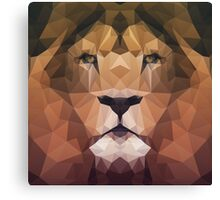 Low Poly Lion Canvas Print