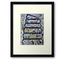 WHOLE CAN OF WORMS Framed Print