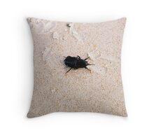 The black beatle Throw Pillow