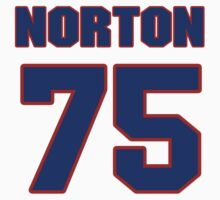 National football player Jim Norton jersey 75 by imsport