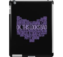 Hawkguy quotes iPad Case/Skin