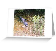 The one eye gator Greeting Card