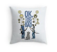 Clint and Kate according to Lucky Throw Pillow