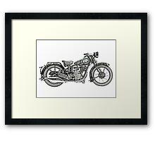 1929 BSA Sloper Motorcycle Framed Print