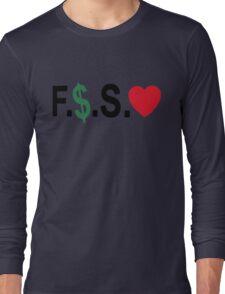 Fuck Money Spread Love [Black] Long Sleeve T-Shirt