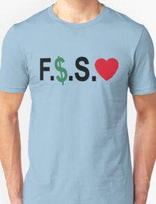 Fuck Money Spread Love [Black] Unisex T-Shirt