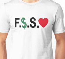 Fuck Money Spread Love [Black] Unisex T-Shirt