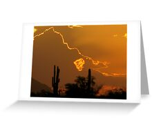 Monsoon Dust Storm Sunset Greeting Card
