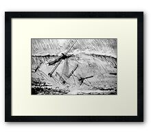 Last Moments of an Old Sailing Ship Framed Print