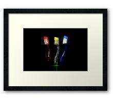 3 brushketeer Framed Print