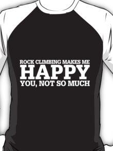 Happy Rock Climbing T-shirt T-Shirt