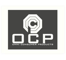 OCP - Omni Consumer Products Art Print