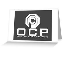 OCP - Omni Consumer Products Greeting Card