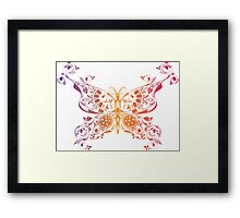 Abstract multicolored butterfly 3 Framed Print