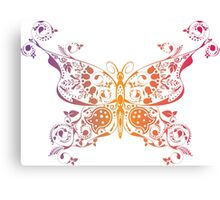 Abstract multicolored butterfly 3 Canvas Print