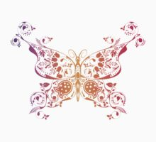 Abstract multicolored butterfly 3 Kids Clothes