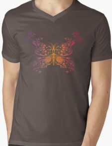Abstract multicolored butterfly 3 Mens V-Neck T-Shirt