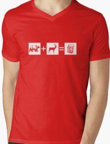 Bear + Deer = Beer Mens V-Neck T-Shirt
