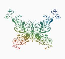 Abstract multicolored butterfly 4 Kids Tee