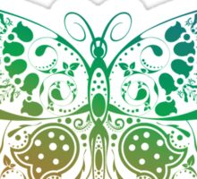 Abstract multicolored butterfly 4 Sticker