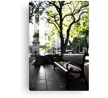 City Bench Canvas Print