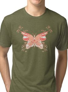 Colorful Butterfly 4 Tri-blend T-Shirt