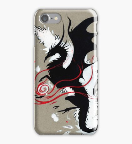BLACK DRAGON RIBBONS iPhone Case/Skin