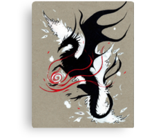 BLACK DRAGON RIBBONS Canvas Print