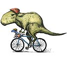 T-rex Bikers by joykolitsky