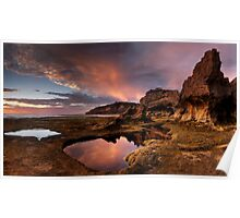 Rock Arch in Pink Poster