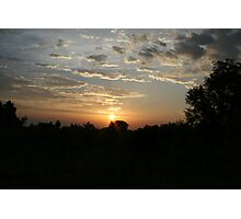Uganda Sunset Photographic Print