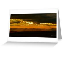 Zululand Landscape Sunset with Electricity Lines Greeting Card